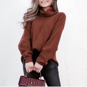 NWT free people softly structured sweater Brown xs